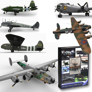 3d world war ii aircraft