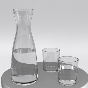 lathe glass water set obj