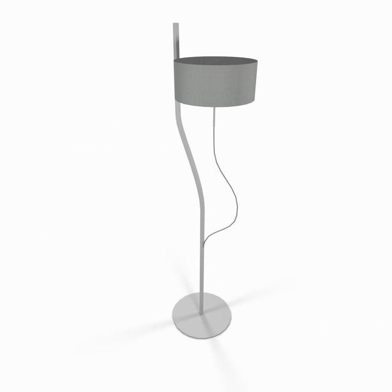 3d white living room lamp model