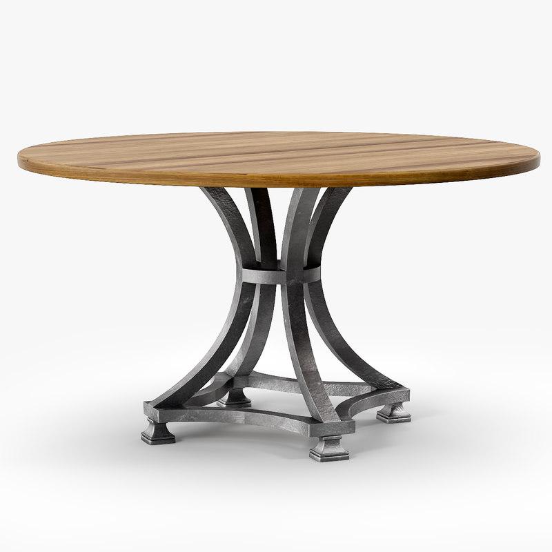 3ds max alameda pedestal table