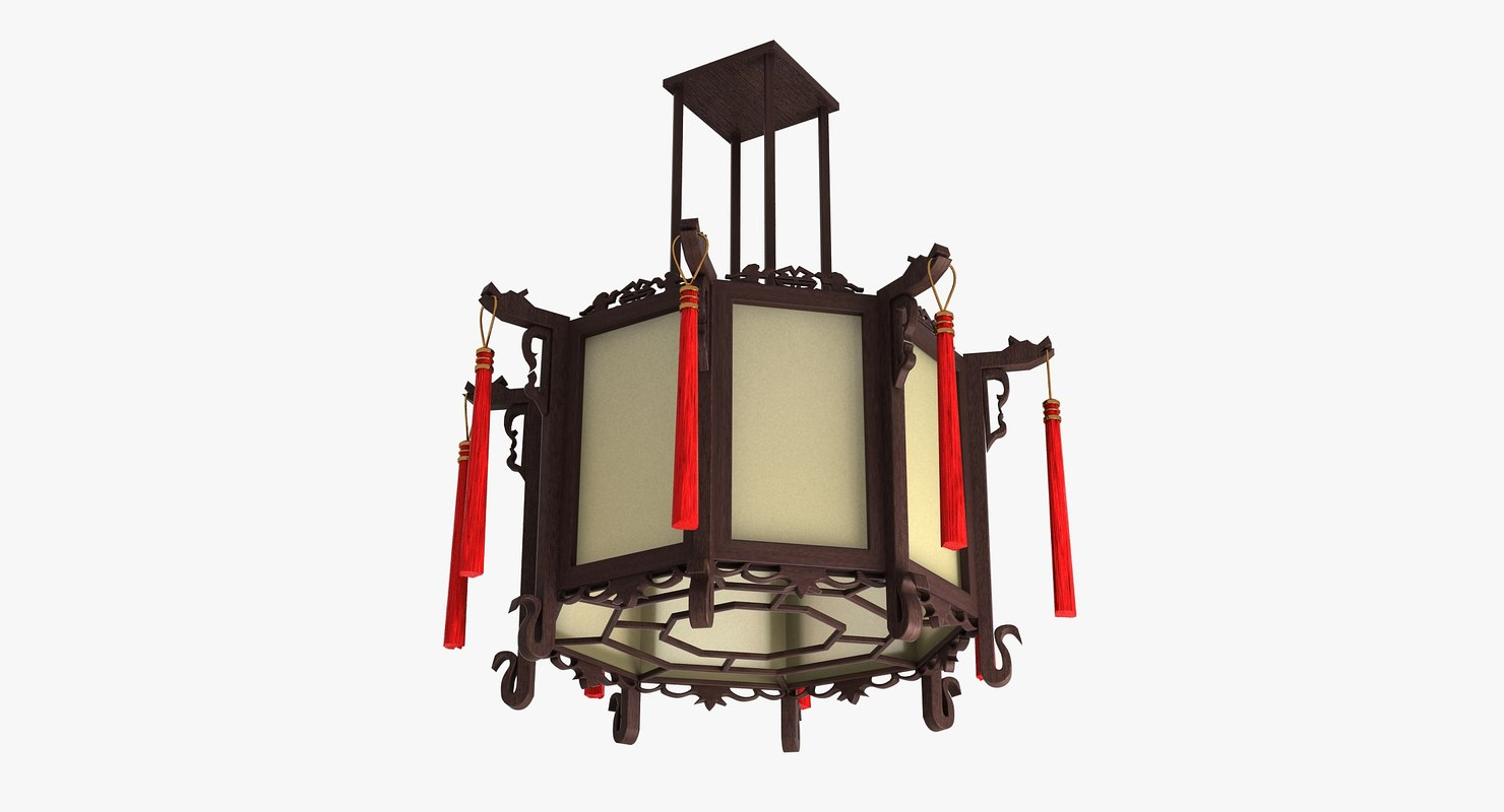 wooden lamp 3d model