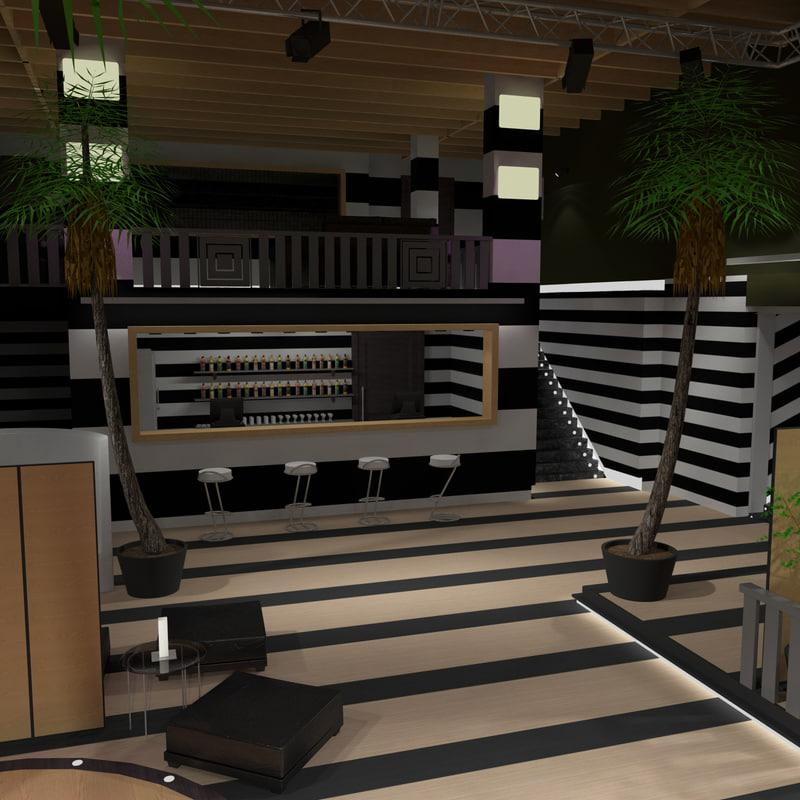 3d model nightclub lighting 4