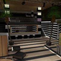 3d model nightclub lighting 4