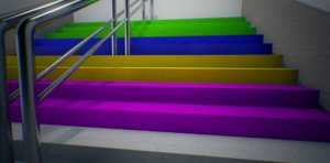 3d model color stairs