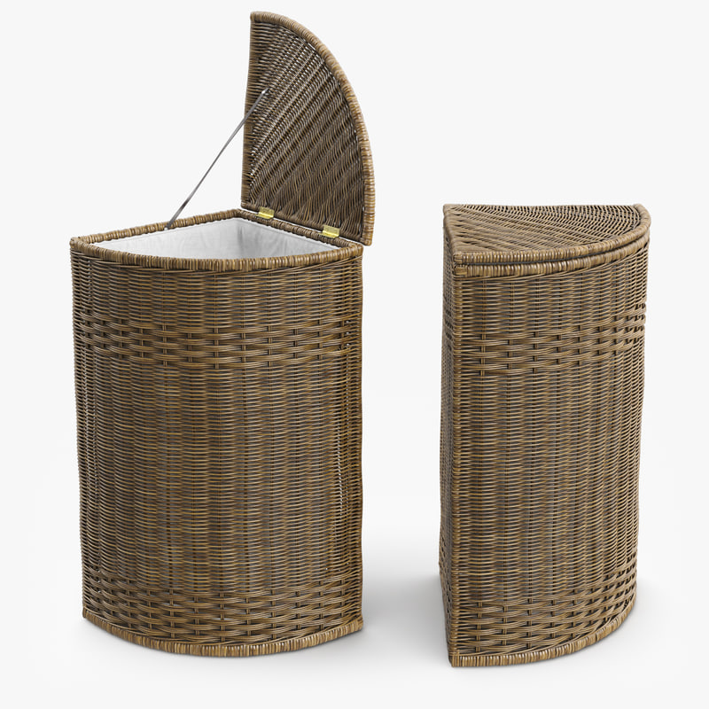 wicker laundry basket rattan max