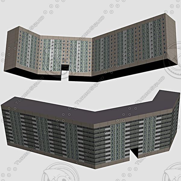 3d house street model