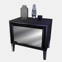 modern nightstand 3d 3ds