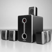 3d model 5 1 speaker