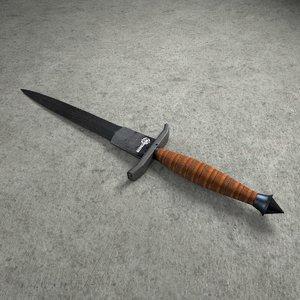 v42 dagger 3d model