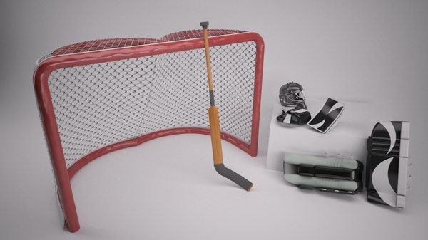 3d model netminder equipment goal