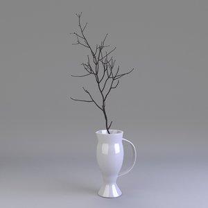 3d model decor plant vase