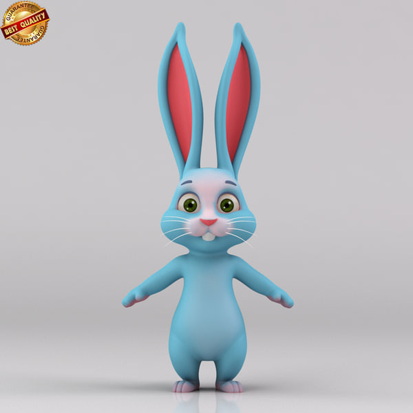 bunny rabbit cartoon obj