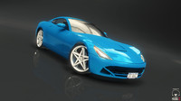 fantastic race car 3d obj