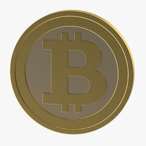 bitcoin coin 3d max