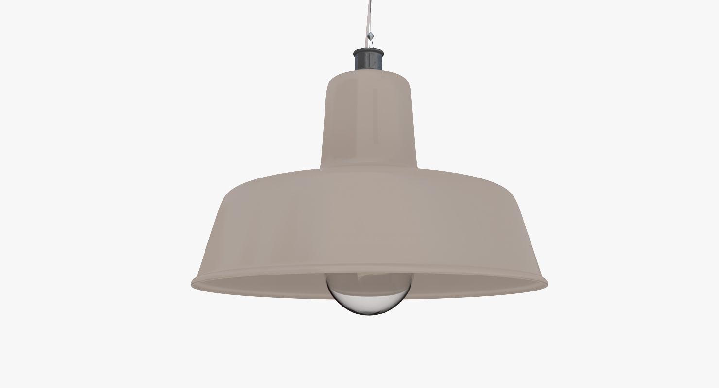 3d model vintage lamp