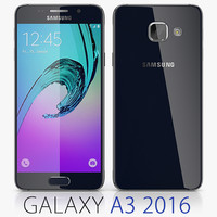 3d model samsung galaxy a3 2016