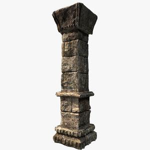 3ds max stone column