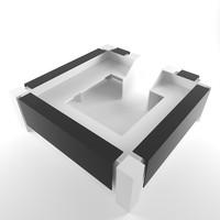 information desk 3d model
