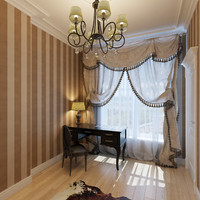 home office interior 3d model