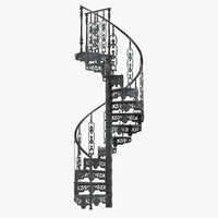3ds victorian spiral staircase
