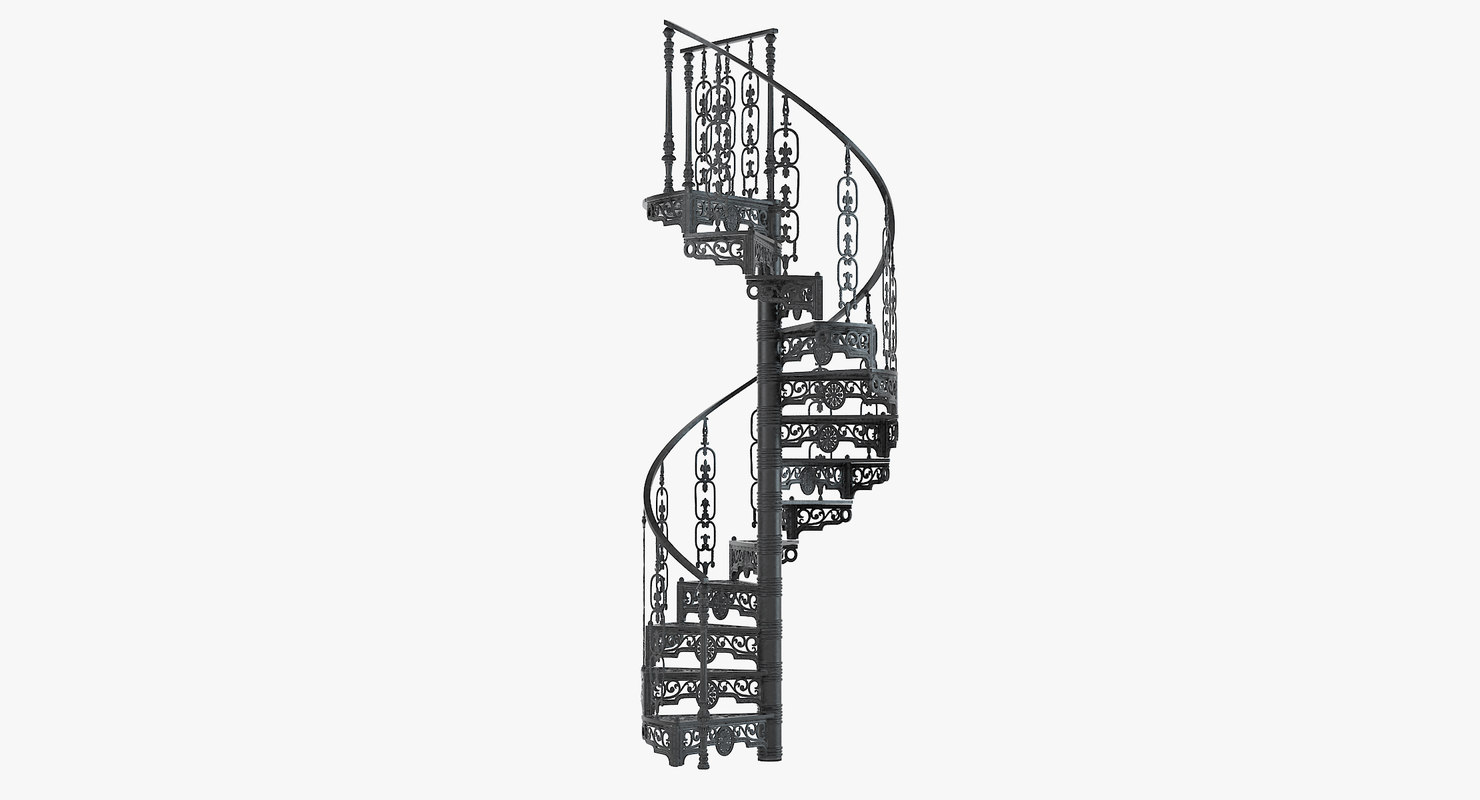 3ds victorian spiral staircase