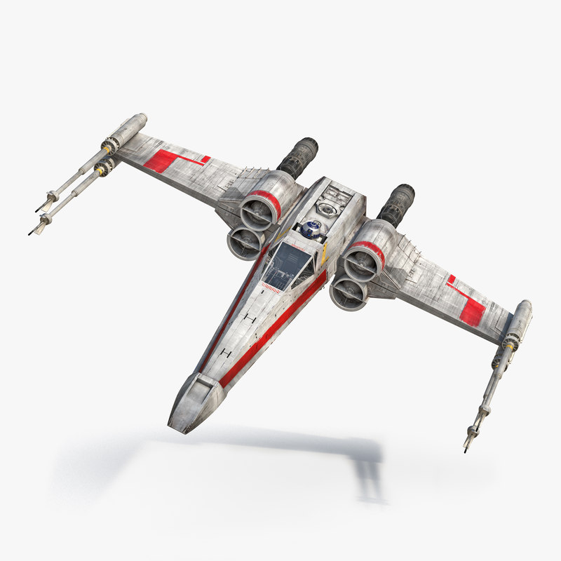 3d model star wars x wing