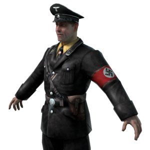 3d model officier ss