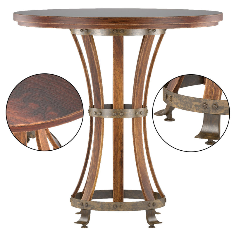 european farmhouse-winemaker tasting table 3d max