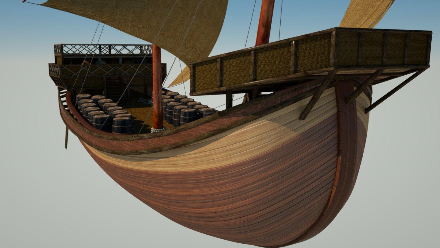 3d latin sailboat