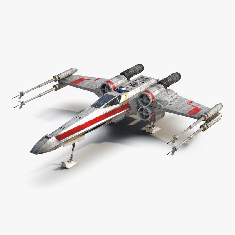 3dsmax star wars x wing