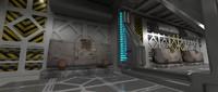 space spaceship hi tech 3d max