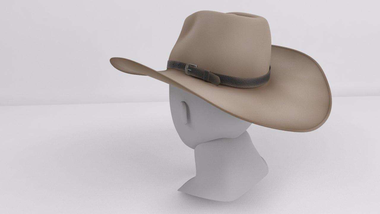 71d4cd61be9 cowboy hat 3d model