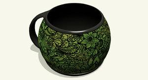 coffee mug 3d 3ds