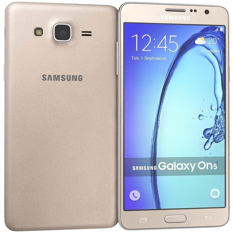3d samsung galaxy on5 gold model