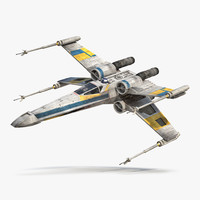 Star Wars X-Wing Starfighter and R2D2 Blue