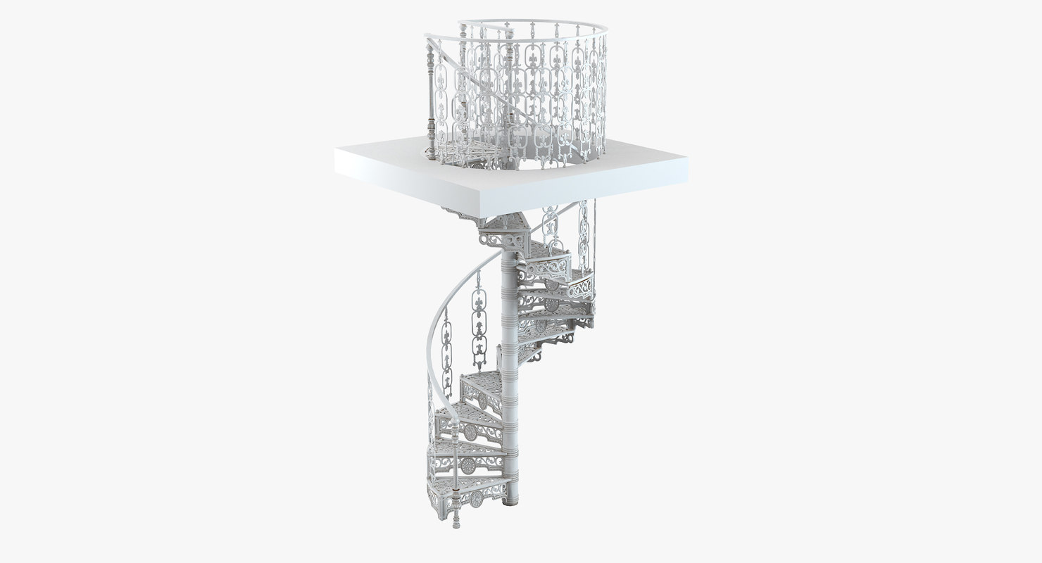 3d classical style spiral staircase