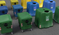 garbage bins 3d model