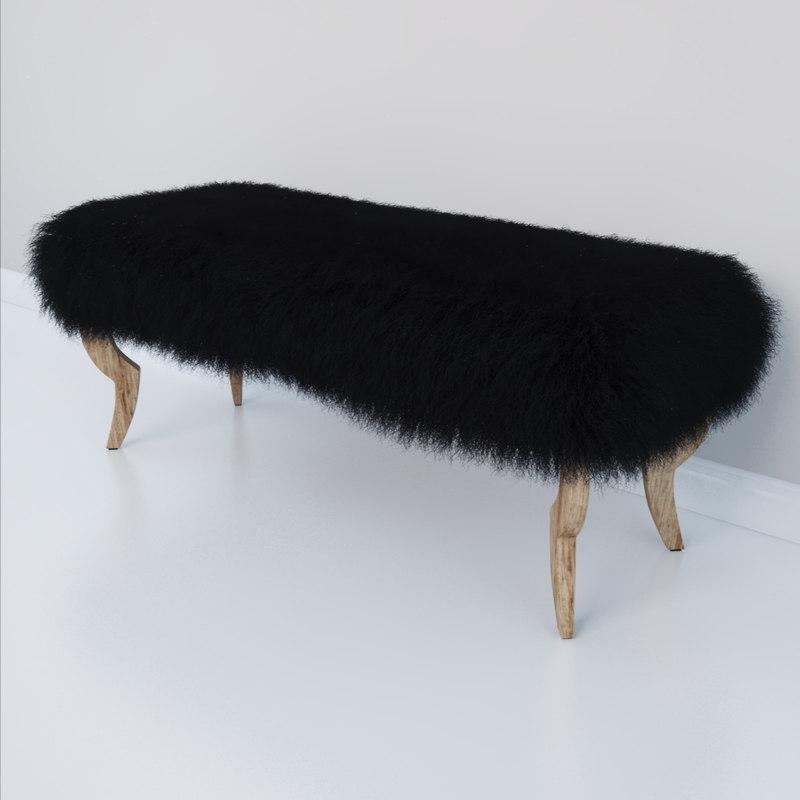 harry bench 3d model