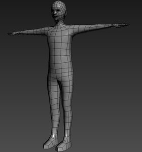 3d model polygons male base mesh