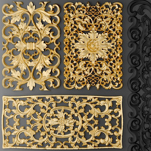 fretwork set 3d model