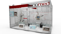 exhibition stand design 3d model