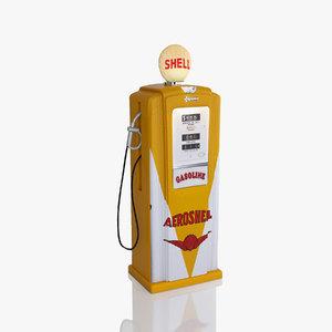 shell retro pump 3d 3ds