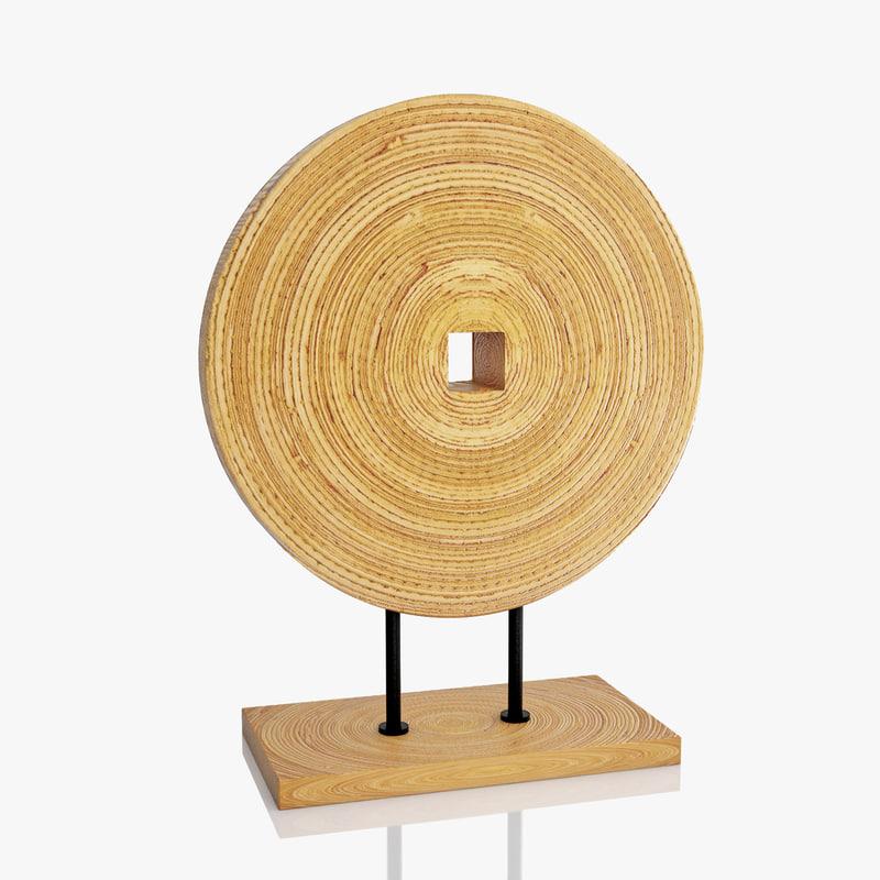 wooden decoration 3ds