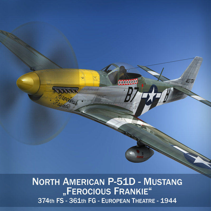 3d model north american - ferocious