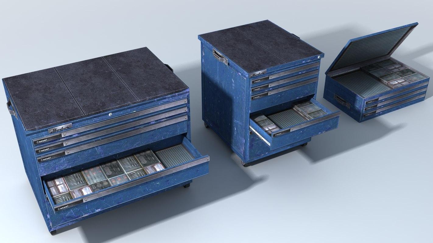 mechanics tool cabinets 3ds