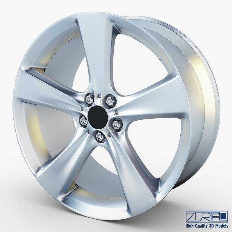 3d model style 128 wheel silver