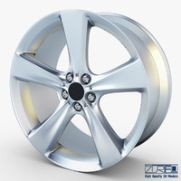 3d model style 128 wheel silver
