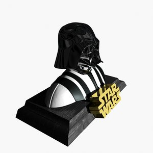 3d model darth vader - bust
