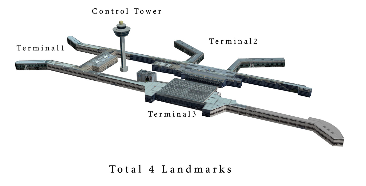 3d model changi airport