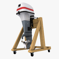 3d outboard engine stand